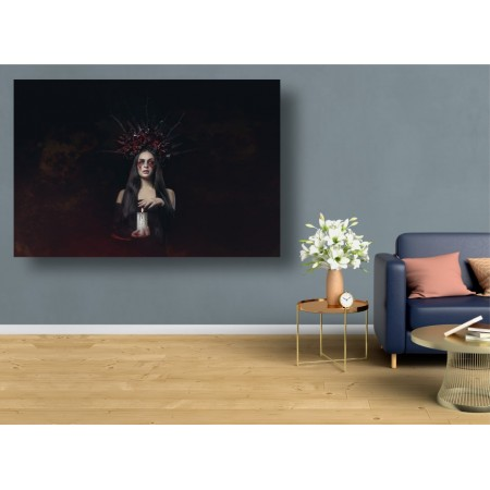 Tablou Canvas Sexi Craiova - Femeie Halloween vampir cu lumanare - Persona Design