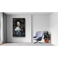Tablou Canvas Sexi Craiova - Femeie in rochie cu flori alb - Persona Design