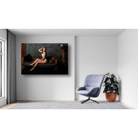 Tablou Canvas Sexi Craiova - Femeie sexy cu lenjerie alba - Persona Design