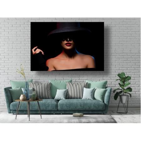 Tablou Canvas Sexi Craiova - Femeie sexy cu palarie - Persona Design