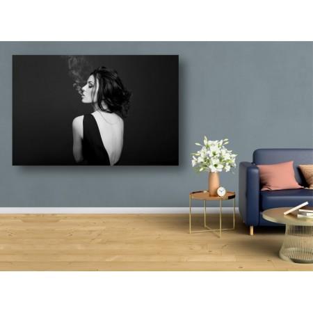 Tablou Canvas Sexi Craiova - Femeie sexy cu rochie neagra - Persona Design