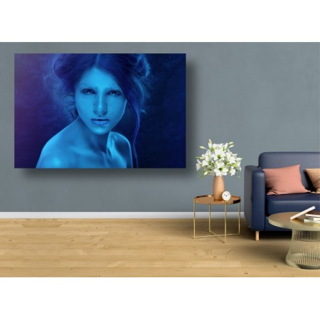 Tablou Canvas Sexi Craiova - Femeie sexy cu ruj albastru - Persona Design