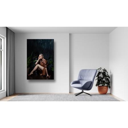 Tablou Canvas Sexi Craiova - Femeie sexy in rochie de piele - Persona Design