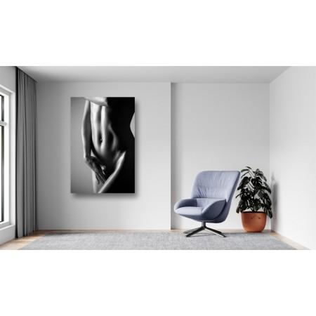 Tablou Canvas Sexi Craiova - Femeie sexy nud alb negru - Persona Design