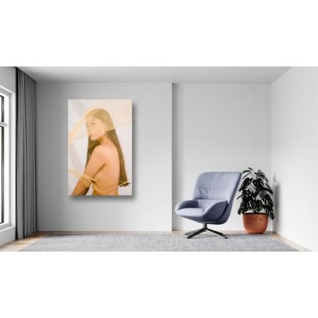 Tablou Canvas Sexi Craiova - Femeie sexy nud cu voal - Persona Design