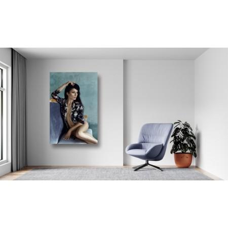 Tablou Canvas Sexi Craiova - Femeie sexy pe scaun - Persona Design