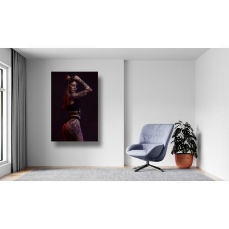 Tablou Canvas Sexi Craiova - Femeie sexy tatuata in lenjerie - Persona Design
