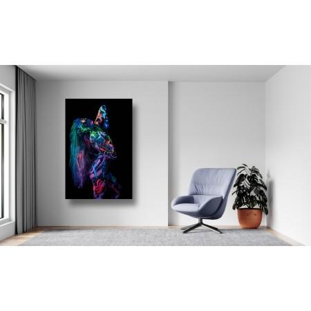 Tablou Canvas Sexi Craiova - Femeie ultraviolet body art - Persona Design
