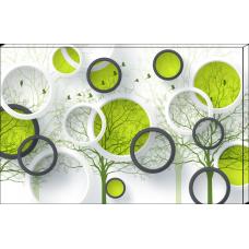 Tablou Canvas 3D Craiova - Cercurile - Persona Design