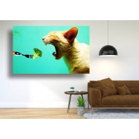 Tablou Canvas Animale Craiova -  Brocolli felin- Persona Design