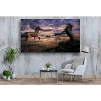 Tablou Canvas Animale Craiova -  Caii din cerul innorat- Persona Design