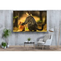 Tablou Canvas Animale Craiova -  Prieteni felini- Persona Design