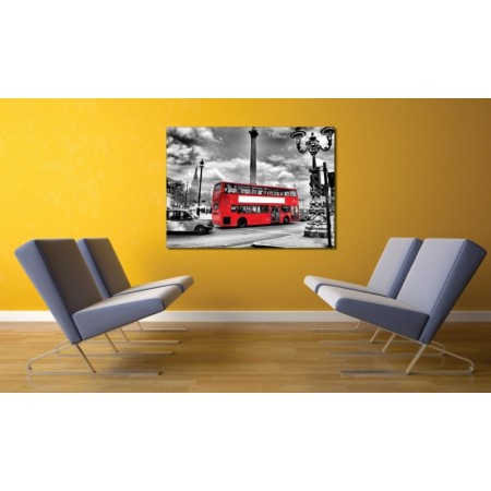 Tablou canvas Autobuzul rosu - Persona Design
