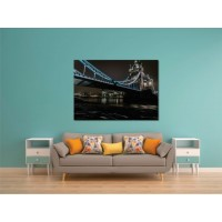 Tablou canvas Podul albastru - Persona Design