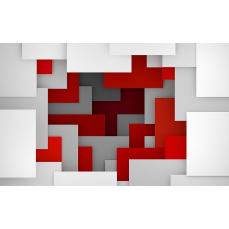 Fototapet 3D Personalizat - Red White