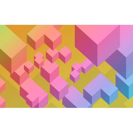 Fototapet 3D Personalizat - Cuburi Colorate