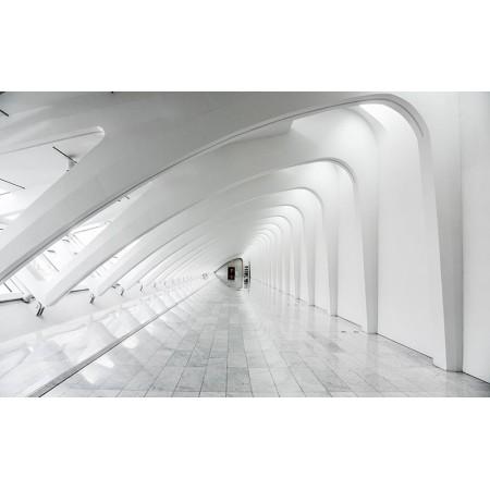 Fototapet 3D Personalizat - Coridorul alb