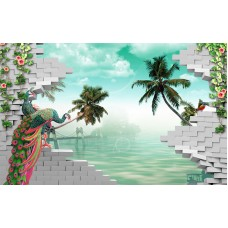 Fototapet 3D Personalizat - Paunul - Persona Design