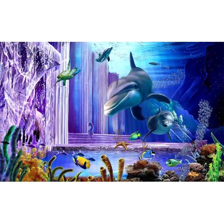 Fototapet 3D Personalizat - Delfinii - Persona Design