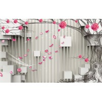 Fototapet 3D Personalizat - Trandafiri - Persona Design