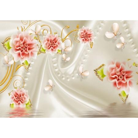 Fototapet 3D Personalizat - Trandafiri Matase  - Persona Design