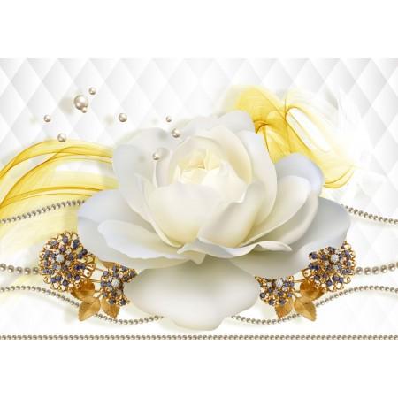 Fototapet 3D Personalizat - Trandafirul Alb  - Persona Design