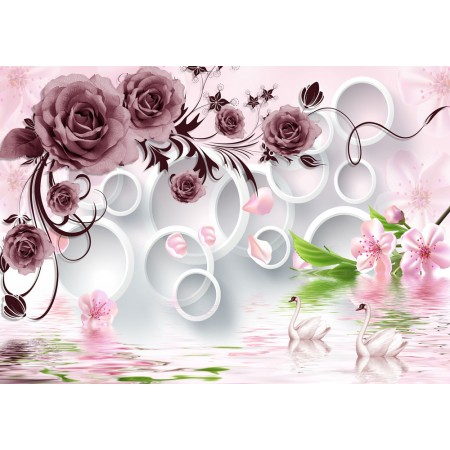 Fototapet 3D Personalizat - Trandafiri Mov  - Persona Design