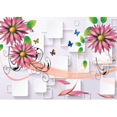 Fototapet 3D Personalizat - Flori - Persona Design