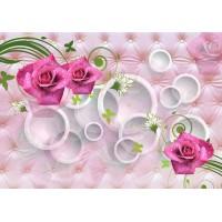 Fototapet 3D Personalizat - Trandafiri Roz - Persona Design