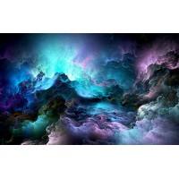 Fototapet Abstract Personalizat - Albastru inchis