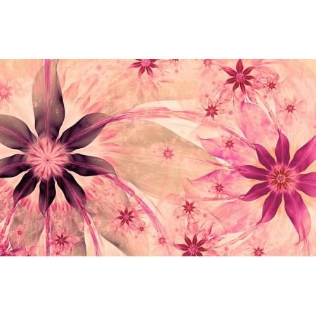 Fototapet Abstract Personalizat - Flori Violet