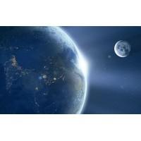 Fototapet Astronomie Personalizat - Terra si Luna