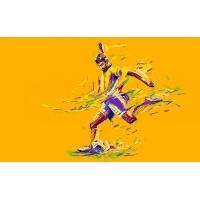 Fototapet Copii Personalizat - Fotbal Galben  - Persona Design