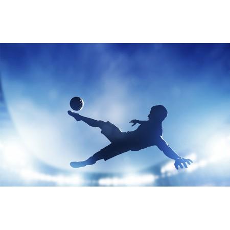 Fototapet Copii Personalizat - Fotbal Albastru  - Persona Design