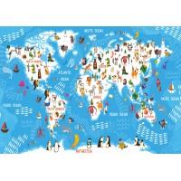 Fototapet Copii Personalizat - Harta Lumii - Persona Design