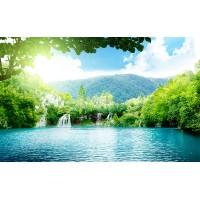 Fototapet Natura Personalizat - Laguna Albastra