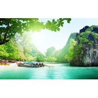 Fototapet Natura Personalizat - Rasarit in Laguna