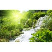 Fototapet Natura Personalizat - Rasarit Cascada