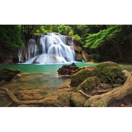 Fototapet Natura Personalizat - Bustean Cascada