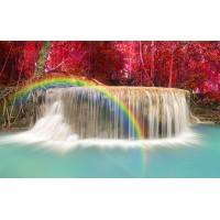 Fototapet Natura Personalizat - Curcubeu la Cascada