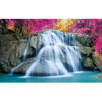 Fototapet Natura Personalizat - Cascada Mov