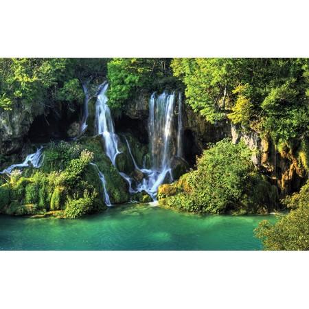 Fototapet Natura Personalizat - Cascada din laguna