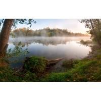 Fototapet Natura Personalizat - Lacul din padure