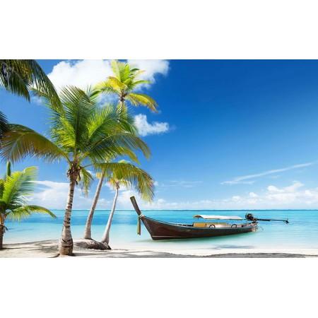 Fototapet Natura Personalizat - Barca pe Plaja
