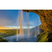 Fototapet Natura Personalizat - Rasarit la Cascada