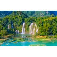 Fototapet Natura Personalizat - Cascada Verde