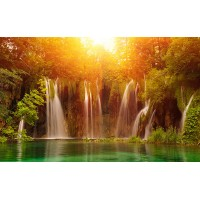Fototapet Natura Personalizat - Cascada Luminoasa