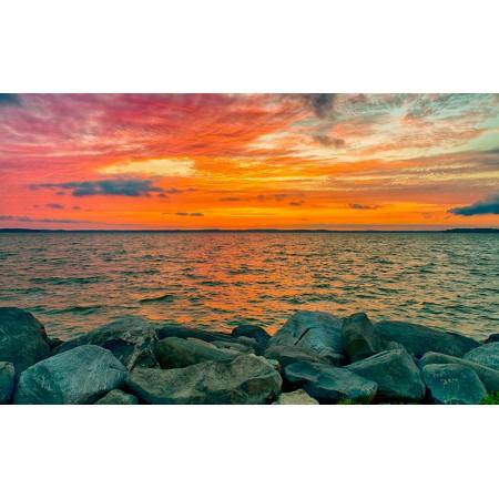 Fototapet Natura Personalizat - Apus la Mare