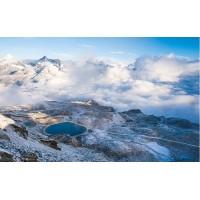 Fototapet Natura Personalizat - Lacul dintre Nori