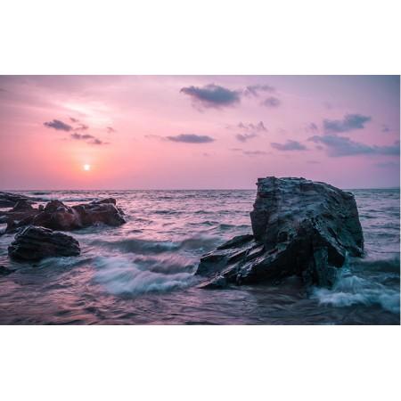 Fototapet Natura Personalizat - Apus Violet